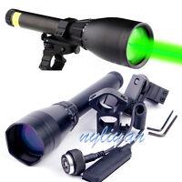 Long Night Vision ND3X50 Green Laser Flashligt Designator &Scope Mount Hunting