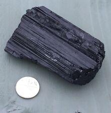 HUGE Grade Raw Natural Schorl Black Tourmaline Chunk Approx 155g Chakra PROTECT