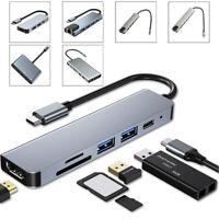 USB C PD Type-C HUB Adattatore Docking 5 6 12-in-1 HDM RJ45 per Mac Windows PC