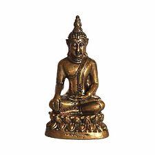 Small Healing Medicine Thai Brass Sculpture  Gautam Buddha Statue