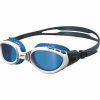 SPEEDO FUTURA BIOFUSE FLEXISEAL SWIMMING GOGGLES - OXIDE GREY / WHITE / BLUE