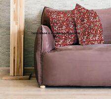 "Indian Handmade Block Print Cushion Cover Reversible Pillows 16"" Ethnic Cushions"