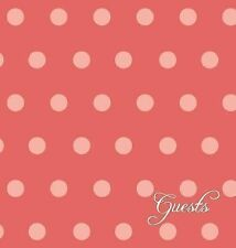 Guestbook and Anniversary Journal : Cayenne Polka Dots (2013, Hardcover)