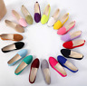 Ladies Ballerina Ballet Dolly Pumps Loafers Flat Soft Suede Slip On Shoes Size #