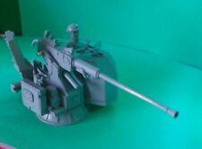 Single MK9 40mm Bofors Gun in 1/24th scale, with Gunner. Model Boat Fittings.