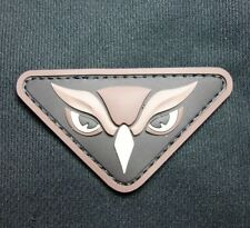 OWL HEAD PVC TACTICAL INTEL MILITARY MORALE ISAF USA MILSPEC SWAT VELCRO PATCH