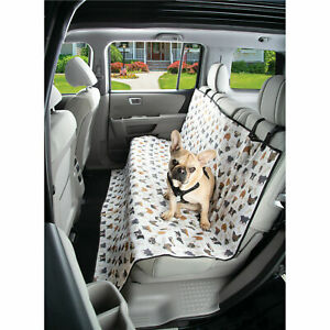 Waterproof Dog Seat Cover - Pet Auto Seat Protector - Paw & Dog Face Printing