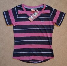 New Ladies Lee Cooper Casual Short Sleeve V Neck T Shirt Top Size 10