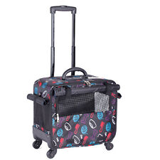 Large Four Wheels Pet Stroller Cat Dog Carrier Cart Rolling Trolley Travel Case