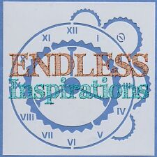 "6""x6"" Endless Inspirations Stencil, ClockWorks - Free US Shipping"