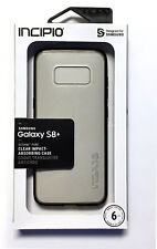 Incipio Octane Pure Clear Impact Case for Samsung Galaxy S8+ Black/Translucent