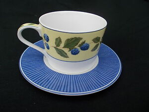 Marks and Spencer BLACKBERRIES.  Teacup and Saucer