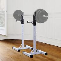 HOMCOM Power Rack Holder Weights Bar Barbell Squat Stands Spotter GYM Workout