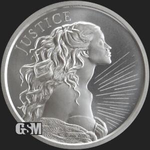 2021 - 1 oz .999 Fine JUSTICE Silver Round Silver Shield BU COIN IN STOCK!!