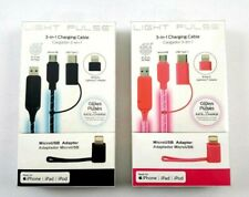 Light Pulse 3-in-1 Charging Cable (Micro USB, Type C, Lightning) *Choose Color*