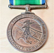 PAPUA NEW GUINEA 10 YEAR SERVICE MEDAL ELECTRICITY COMMISSION