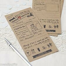10 Vintage Bride & Groom Wedding Wishes Words of Wisdom Guest Book Advice Cards
