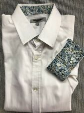 Ted Baker White Dress Button Down Shirt 1/ XS MSRP $125