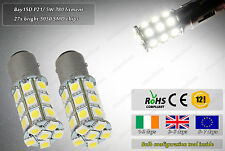 2x LED Bay15D P21/ 5W 380 Xenon White Police Look Strobe Flash Reverse DRL Bulbs