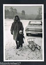 FOTO - PHOTO, Opel Rekord Winter Schlitten snapshot car carrigae voiture 41