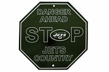 NFL New York Jets Stop Sign Room Bar Decor 12 x 12