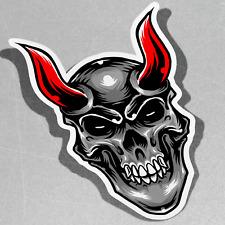 Devil Head Red Horn Vinyl Sticker Decal Window Car Van Bike 2972
