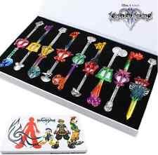 9pcs/ Kingdom Hearts II Key Blade Keychain Colorful Keychain Free Shipping