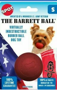 Ethical Dog-Barrett Ball Red Small/2.5 Inch Long lasting fun dog toy play bounce