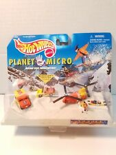 Hot Wheels Planet Micro Blizzard Recovery Team 5 Pc Set 1998 Mattel NIP