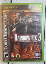 Tom Clancy's Rainbow Six 3 Squad-Based Counter Terror Microsoft Xbox Video Game