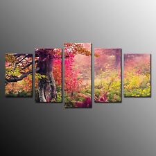 Modern Canvas Wall Art Colorful Forest Canvas Painting Print Art Home Decor-5pcs