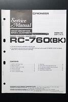 Pioneer RC-760 Original Manual de Servicio/Instrucciones/Esquema Conexiones! O3