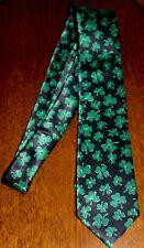 New Happy St Patricks Day Mens Necktie Irish Lucky Green Shamrock Blue Neck Tie