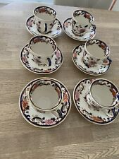 More details for masons ironstone blue mandalay six cups and saucers