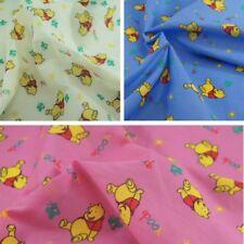 Polycotton Fabric Winnie The Pooh Sunshine Disney