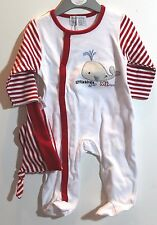 H089 NWT Babluno baby Girl Clothes  3-6 months Sleeper with a hat  Outfit