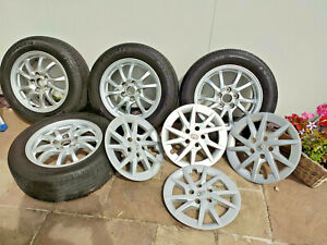 """Toyota Prius Plus Alloy Wheels 16"""" original set with tyres and nuts"""