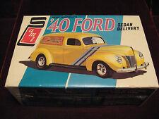 RARE Sealed 4-22-69 VTG '40 Ford Sedan 2in1 Model/Kit AMT USA 2540 Time Capsule!