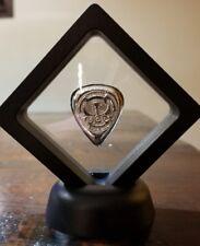 1 oz .999 Silver hand poured guitar pick fender musician gift art bar Framed New