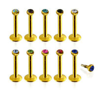 Gold Anodized Madonna Labret Piercing Jewellery