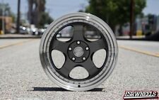 17x9.5 Inch +30 ESR SR06 5x114.3 Gunmetal Wheels Rims Civic RSX IS300 Integra TC