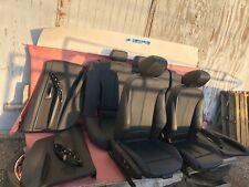 Black Seats Sport Red Stitches Set Door Panels BMW 328I 330I 340I F30 Sedan 93K