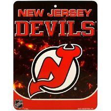 """NHL Hockey New Jersey Devils 8.5""""x11"""" Plastic Wall Street Sign New"""