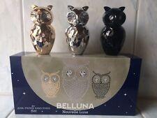 3 x 30ml Parfum Eule Belluna gold silber schwarz Luxus Jean Pierre Sand Paris