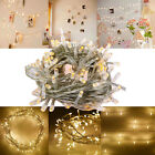 Warm White 10M 100LED Christmas Wedding Xmas Party Decor Fairy String Light Lamp