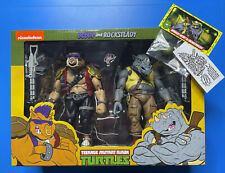 NECA Teenage Mutant Ninja Turtles BEBOP and ROCKSTEADY 2 Pack Figures Complete