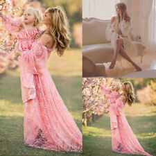 Pregnant Women Off Shoulder Long Maxi Lace Gown Photography Prop Maternity Dress