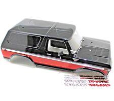 Traxxas TRX-4 1979 Ford Bronco Ranger XLT Painted Body Black Red TRX4