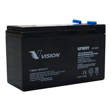 Vision 6FM9Y 12V 9Ah 10Yrs Service Life AGM Sealed Lead Acid Battery
