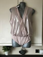 Topshop Body Size 12 Nude Iridescent Shimmer *New*
